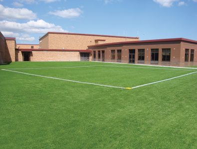 An installation of Surface America's RecSport Turf product at a school